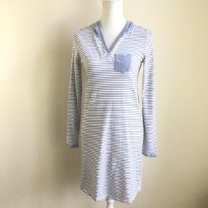 Nautica Hoodie Nightgown Sleep Shirt Pullover